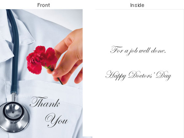 Doctors Day Greeting Card Press Release.