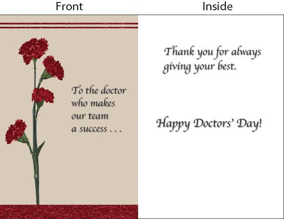 Doctorsdayorg 2014 Doctors Day Greeting Card